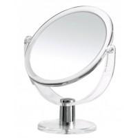 Oglinda cosmetica pentru baie, stativa, acril + metal, Ridder Kida 38140, factor marire - 3X, D 13.5 cm