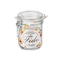 Borcan cu capac ermetic Fido, Bormioli, sticla transparenta, 0.5 L
