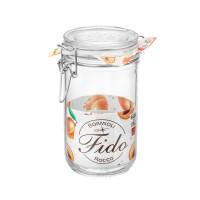 Borcan cu capac ermetic Fido, Bormioli, sticla transparenta, 0.75 L