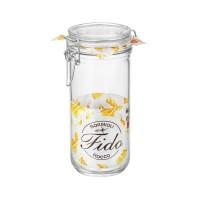 Borcan cu capac ermetic Fido, Bormioli, sticla transparenta, 1 L