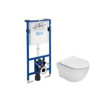 Pachet rezervor apa, incastrat, Roca Meridian A893104790, 50 x 112 cm, vas WC si capac slim incluse