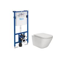 Pachet rezervor apa, incastrat, Roca Gap A893104860, 50 x 112 cm, vas WC si capac slim incluse