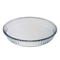 Vas rotund pentru copt, Borcam 59014, sticla termorezistenta, transparent, D 31.8 cm