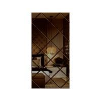 Oglinda decorativa, tip panou, bronz, 50 x 100 cm