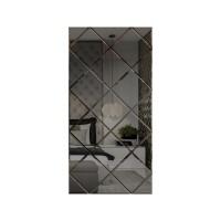 Oglinda decorativa, tip panou, gri, 75 x 150 cm