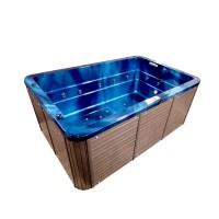 Jacuzzi exterior, West Gentle, albastru + maro, cromoterapie, 310 x 210 x 90 cm