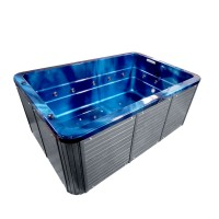 Jacuzzi exterior, West Gentle, albastru + gri, cromoterapie, 310 x 210 x 90 cm