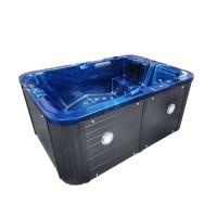 Jacuzzi exterior, West Cozy, albastru + gri, cromoterapie, 190 x 135 x 80 cm