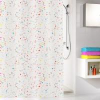 Perdea dus Kleine Wolke Confetti 34288, model confetti, multicolor, 180 x 200 cm