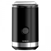 Rasnita de cafea Samus Finetto, 150 W, 50 g, lama din inox, sistem de blocare pe durata functionarii, functie Pulse, capac transparent, neagra