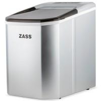 Aparat de preparat gheata Zass ZIM 02, 112 W, capacitate vas apa 1.25 litri, productie cuburi gheata 12 - 15 kg / 24 ore, capacitate de stocare 1.25 kg, capac cu fereastra de acces, posibilitate selectare dimensiune cuburi, argintiu