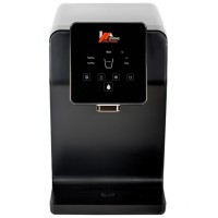 Dozator de apa Living Solutions JL-1645T, cu sistem de filtrare, putere incalzire 420 W, putere racire 100 W, display touch iluminat LED, senzor Eco, negru