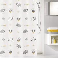 Perdea dus Kleine Wolke Sheep 324298, model oite, multicolora, 180 x 200 cm