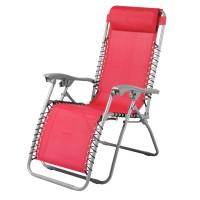 Scaun camping pliant 331.170RD, structura metalica, rosu, 62 x 109 cm