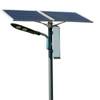 Stalp de iluminat solar stradal SL80 PNI-PS-50W, 2 x 80W, lumina rece