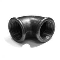 Cot fonta neagra, FI-FI, 1 1/4 inch, 90 grade