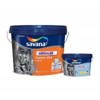 Vopsea superlavabila interior, Savana, alba, 15 L + vopsea pentru baie si bucatarie, Savana Ultrarezist cu Teflon, 2 L