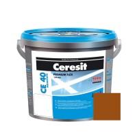 Chit de rosturi gresie si faianta Ceresit CE 40, siena, interior / exterior, 5 kg