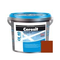 Chit de rosturi gresie si faianta Ceresit CE 40, caramiziu Clinker, interior / exterior, 5 kg