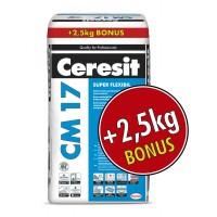 Adeziv super - flexibil pentru gresie si faianta Ceresit CM 17, interior / exterior, gri, 25 kg + 2.5 kg gratis
