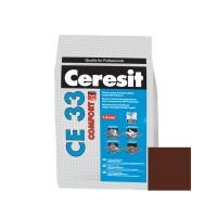 Chit de rosturi gresie si faianta Ceresit CE 33, maro ciocolatiu,  interior, 5 kg