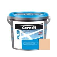 Chit de rosturi gresie si faianta Ceresit CE 40, cream ( piersica ) 28, interior / exterior, 5 kg