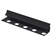 Profil PVC de colt interior, 000aine, negru, 2.6 m
