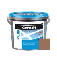 Chit de rosturi gresie si faianta Ceresit CE 40, cacao, interior / exterior, 5 kg