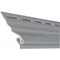 Profil pornire PVC, pentru lambriu exterior, Vox S11, alb, 3.05 m