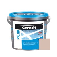Chit de rosturi gresie si faianta Ceresit CE 40, bahama bej 43, interior / exterior, 5 kg