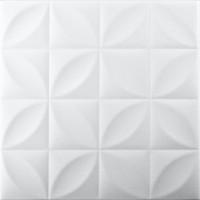 Tavan fals decorativ, polistiren extrudat, VTM 0819, modern, alb, 50 x 50 x 0.4 cm