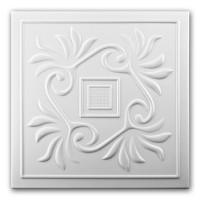Tavan fals decorativ din polistiren VTM 0859 clasic alb 50 x 50 x 0.4 cm