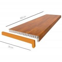 Glaf PVC interior pentru ferestre VILO, stejar auriu, 300 x 20 x 2 cm
