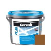 Chit de rosturi gresie si faianta Ceresit CE 40, pamintiu Terra 55, interior / exterior, 5 kg