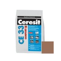 Chit de rosturi gresie si faianta Ceresit CE 33, cacao, interior, 5 kg