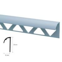 Profil PVC margine gresie si faianta, SET N31318, uni, albastru, 10 x 25 x 2.500 mm
