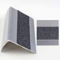 Profil aluminiu pentru treapta, Davo Pro 2853 argintiu, 1 m
