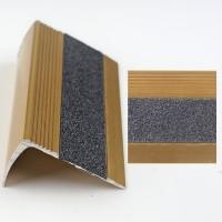 Profil aluminiu pentru treapta, Davo Pro 2853 auriu, 1 m
