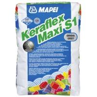 Adeziv flexibil pentru gresie si faianta Mapei Keraflex Maxi S1, interior / exterior, gri, 25 kg