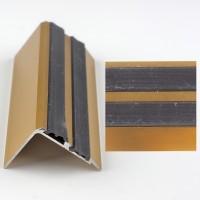 Profil aluminiu pentru treapta, Davo Pro 2150 auriu, 1 m