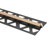 Profil PVC de dilatatie pentru gresie, Profilplast, bej, 10 mm, 2.5 m