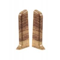 Terminatie pentru plinta, stanga / dreapta, SET 10456-0040, PVC, nuc, 52 x 22 mm, 2 buc / set