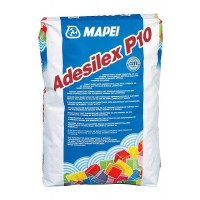 Adeziv pentru mozaic ceramic, sticla sau marmura, pe baza de ciment alb, Mapei Adesilex P10, 25 kg