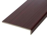 Glaf PVC extrudat exterior pentru ferestre, Plastivan, mahon, 500 x 22.5 x 0.9 cm
