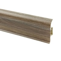Plinta parchet PVC Vilo Flex 553, canal cablu, stejar argintiu, 2500 x 55 x 22 mm