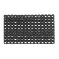Covor intrare exterior Domino 350, cauciuc, negru, dreptunghiular, 60 x 40 cm