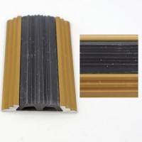 Profil aluminiu pentru treapta, drept, 2151, auriu, 1 m