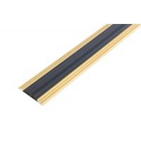 Profil aluminiu pentru treapta, drept, Ersin 2151 bronz, 3 m