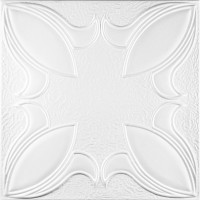 Tavan fals decorativ, polistiren extrudat, C2028, clasic, alb, 50 x 50 x 0.3 cm