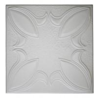 Tavan fals decorativ din polistiren C2028 clasic alb 50 x 50 x 0.3 cm